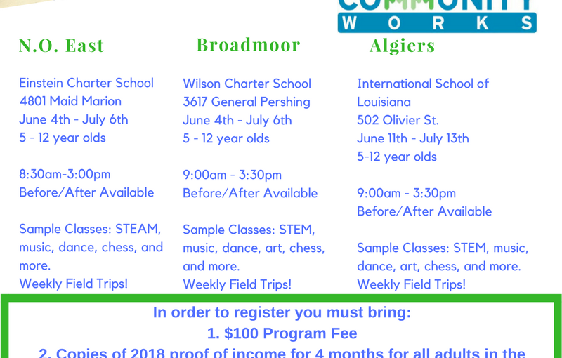 Community Works Summer Programs with NORDC